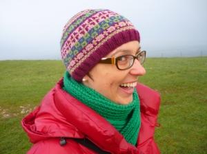 Purple patterned hat